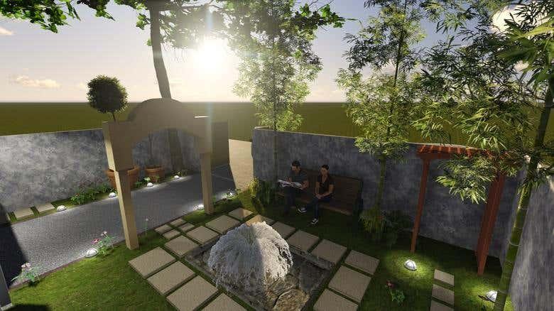 Landscape Design Small Villa Sydney Australia Freelancer