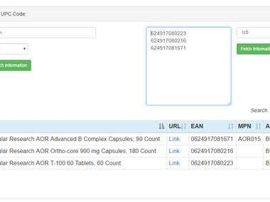 Amazon Bulk UPC Lookup Tool