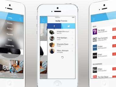 News Feed IOS and Android App