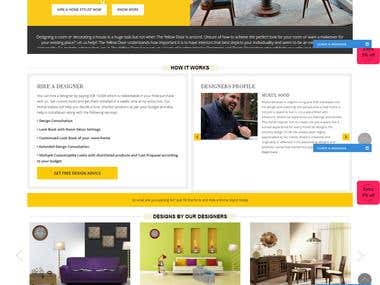 Website for Interior Designs