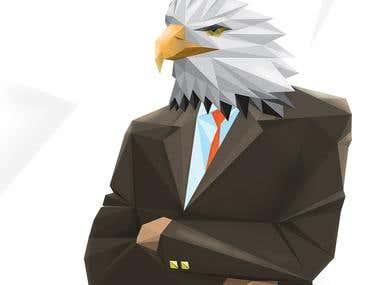 Sharp corporate eagle