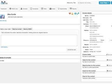 Backbone.js based small business CRM