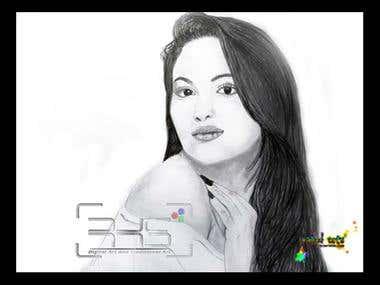 Sonakshi Sinha Sketch by me..
