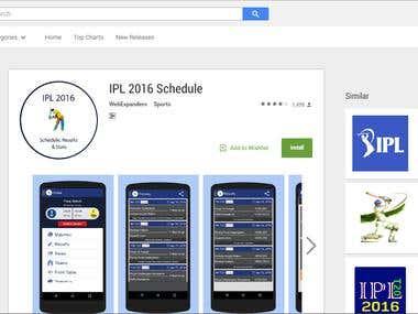 IPL 2016 Schedule App