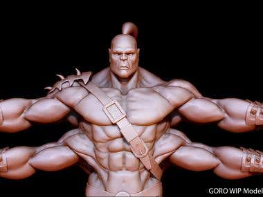 GORO Model WIP from Mortal Kombat