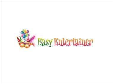 Logo for a party website Easy Entertainer