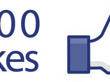 I will get you 500 Guaranteed Facebook Likes from Real Human
