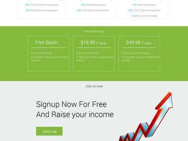 Custom PHP Responisve Website (Bootstrap)