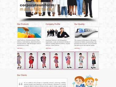 Website developed for  cloth storte