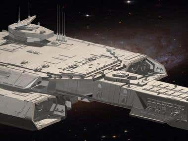 Daedalus Stargate Atlantis Model 3ds Max