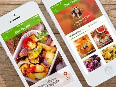 Bon Appetit Mobile App Design