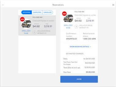 Travel and Car Detail View and Rental System