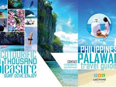 Tours and Travel Company Brochure Graphic Design