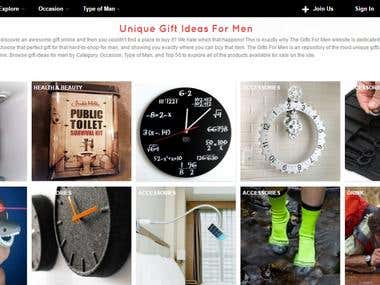The Gifts for Man website