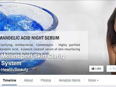 Person needed to maintain Facebook page for new skincare lin