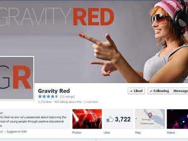 Gravity Red Social Media UK facebook like