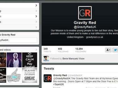 Gravity Red Social Media twitter followers