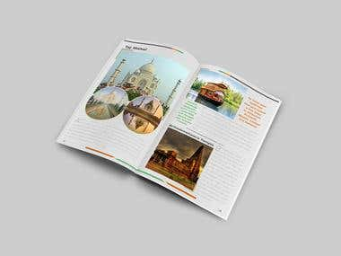 Report.Brochure design using InDesign