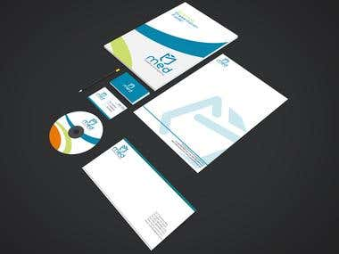 Medi branding stationery