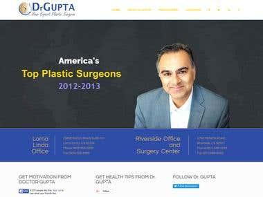 Plastic Surgeon Website using Wordpress