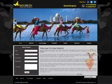 TRAVEL WEBSITE - Dreamzindiatour.com