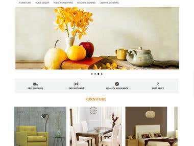 ECOMMERCE WEBSITE FOR Home Furnishing - Woodenclave.com