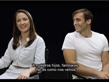 Video subtitles