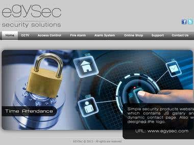 Simple security products website