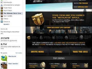 OFFICIAL Tower Heist movie Facebook application