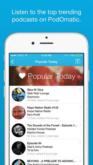 PodOmatic Podcast Player - iPhone Objective-C App - Design