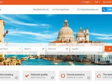 Holiday Apartments Booking Web Application