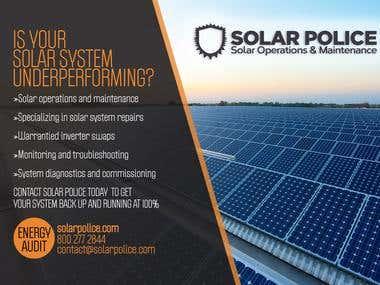 Solar Police Corporate Postcard