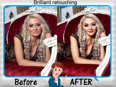 Professional Model Retouching