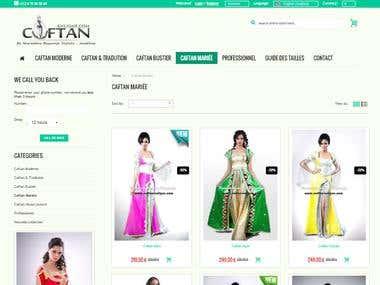 Prestashop website for Caftan