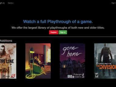 Netflix Style Gaming website