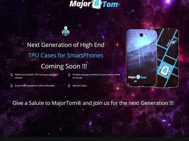 Landing Page for Major Tom Case