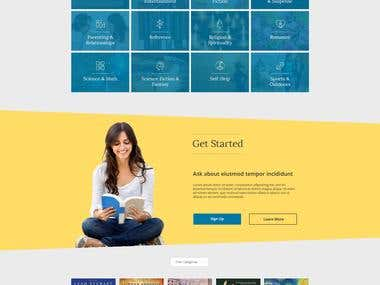 Design a responsive homepage for an affiliate book website