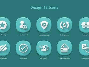 Design 12 Icons