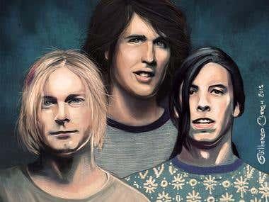 Nirvana Portrait
