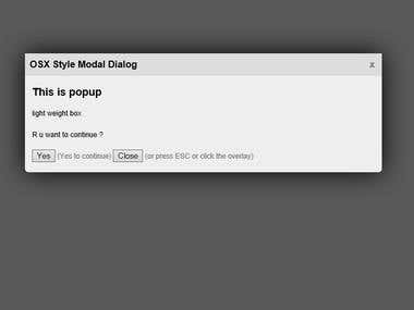 OSX style dialog popup (JavaScript/css/Js )