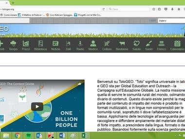 Translation English to Italian Totogeo website