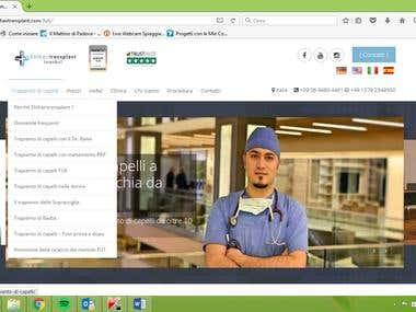 Translation of the full website of Elithairtransplant from G