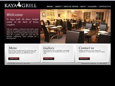 Kaya Grill - website of a famous restaurant in London
