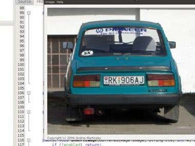 Automated Number Plate Recognition Software