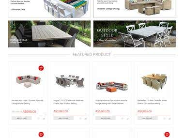 E-commerce Furniture sell online