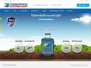 Travel agency website - www.cosmopolis.rs
