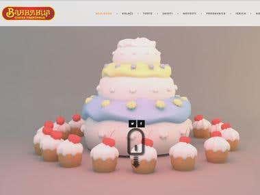 Baking company website - www.vanilica.rs