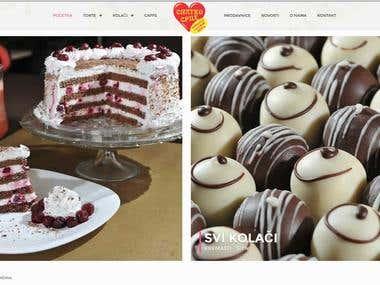 Baking company website - www.slatkosrce.rs