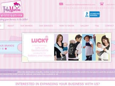eCommerce website for babies and moms