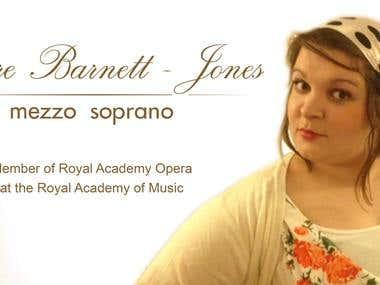 Banner for opera singer